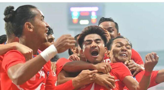 घरेलु मैदानमा ३७ वर्षपछि बंगलादेशलाई नेपालले हराउदै जित्यो फाइनल