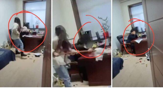 महिला कर्मचारीलाई हाकिमले मोबाईलमा अश्ली`ल म्यासेज पठाउदा-अफिसमै भेटे रामधुलाई (भिडियो)