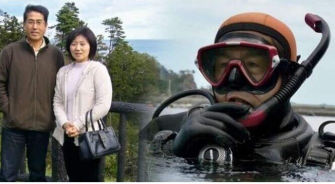 १० वर्षदेखि सुनामीमा हराएकी श्रीमतीलाई समुद्र'भित्र खोजि'रहेछन् ६४ वर्षका यी श्रीमान
